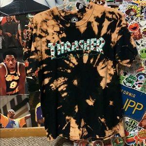 Thrasher roses tye dyed t-shirt